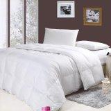 Cobertura de cama de cor branca com fibra de silício 1,2D