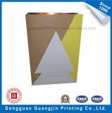 Packpapier-Einkaufstasche Inneresform gedruckte Brown-