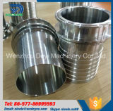 Conetor sanitário da mangueira do aço inoxidável