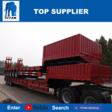 Titan 5 hydraulique de l'essieu Lowbed 6 essieux de 100 tonnes chargeurs faible semi-remorque avec chariot