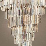 Светильник формы конуса лоббиа гостиницы большой роскошный кристаллический привесной