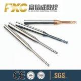 2 Cortador de engrenagem de Flauta com colo longo para o Alumínio