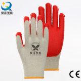 перчатки безопасности работы латекса раковины 10g T/C покрынные ладонью