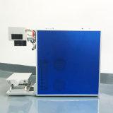 Máquina pequena da marcação do laser da fábrica da fibra da venda quente para a caixa do telefone da pena