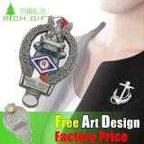 Pin di alluminio del risvolto di disegno dei premi dell'esercito della sagola con la spilla di sicurezza