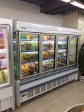 Supermercado de 10 pies de refrigerador para fruta/Vegetal/bebidas y productos lácteos