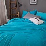 Cobertores cheios mornos do velo da flanela do azul de oceano do luxuoso da promoção