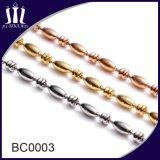 Niza carretes de la cadena del collar de la bola del metal de la joyería con la conexión