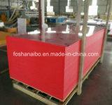 Tarjeta de la espuma del PVC del color rojo