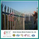 안전에 의하여 직류 전기를 통하는 강철 담 PVC 입히는 정원 철 Palisade 담