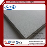 Panneau de plafond acoustique d'isolation de fibre de verre de tissu décoratif intérieur de plafond