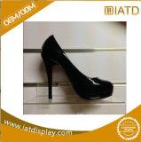 Support acrylique d'étalage de chaussure de magasin de plexiglass clair fait sur commande de Slotwall