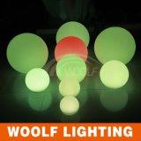 Colorare l'indicatore luminoso cambiante della sfera della decorazione di telecomando LED