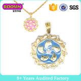 Ouro Round Necklace Acessórios de moda para mulheres (14600)