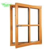 Giro de aluminio de doble apertura revestido de madera maciza puerta francesa