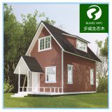 Holz und Plastikgrünes vorfabrizierthaus der zusammensetzung-WPC