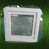 Doppeltes glasig-glänzendes graues abgetöntes weißes Flügelfenster-Glasfenster des Profil-UPVC