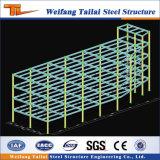 Estructura de acero prefabricada de los proyectos de construcción de los apartamentos del cuento multi ligero prefabricado del marco