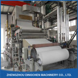 El tejido facial de la máquina de fabricación de papel desde la materia prima los desechos de papel, pulpa de madera, paja de trigo, el bagazo, el algodón