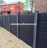 Jardim de estilo europeu composto de plástico de madeira decorativa cerca de madeira com marcação CE