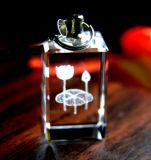 Aangepast Kristal Keychain met LEIDEN Licht