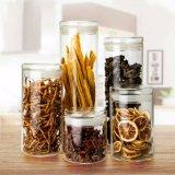 Vaso di vetro di vetro di memoria dell'articolo da cucina della scatola metallica del caffè del vaso della decorazione dell'alimento del vaso di vetro chiuso ermeticamente della caramella