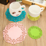 Coaster do silicone dos Doilies da flor para o copo de chá
