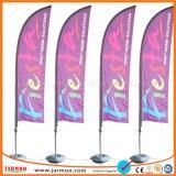 Bandera de plumas de la playa exterior personalizado