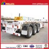 40ft châssis porte-conteneurs semi-remorque avec fonction de dumping