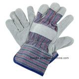Для тяжелого режима работы с двойной усиленной упор для рук и холст обратно кожаные перчатки