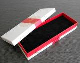 Rectángulo de regalo de empaquetado de la joyería de papel roja barata