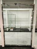 Porta de vidro do chuveiro com o rolo grande do aço inoxidável (SD-502)