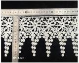 Collar lechoso blanco sin procesar L167 del cordón del cuello del hilado del nuevo diseño de moda del precio de fábrica
