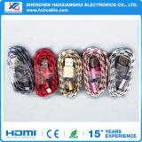 Bella treccia di nylon che trasferisce per il cavo del USB di illuminazione