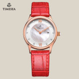 Relógio do negócio para senhoras com a faixa 71078 do couro genuíno