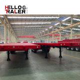 3 essieux 40 tonnes de corps de lit plat de remorque intense semi