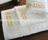 Commerce de gros Dobby Terry blanc de luxe 5 étoiles Hôtel 100% coton les serviettes de bain