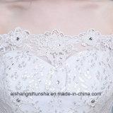 Платье венчания сексуального цветка платья выпускного вечера девушки без бретелек стильного Lace-up