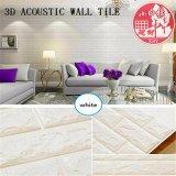 Декоративные ПВХ 3D-акустические самоклеющиеся плитки для спальни