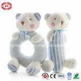 아기 곰 견면 벨벳 가르랑거리는 소리와 Squeaker 부드럽게 귀여운 세트 장난감