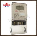 Сдвоенная линия счетчик энергии одиночной фазы LCD электрический