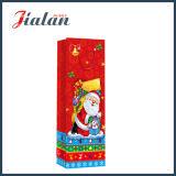 4c imprimé le Père Noël bouteille Shopping main Sac en Papier cadeau
