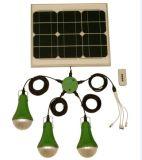 sistema domestico solare 30W con la lampada di energia solare di luminosità 375lum 100% di Dimmable