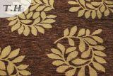Heißes Chenille-Jacquardwebstuhl-Sofa-Gewebe des Verkaufs-2016 mit Blatt-Muster