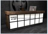 Горячая продажа классическом французском стиле белый Глянцевый светодиодный современной стойкой регистрации