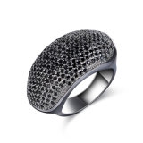 Anillo de dedo negro cristalino del arma de la joyería del regalo de la manera