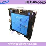 Tarjeta del panel de alquiler de la pantalla de visualización de LED de la pequeña echada de interior del pixel de HD P2.5 con la cabina de fundición a presión a troquel de 480X480 milímetro
