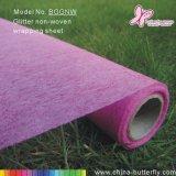 Фиолетовый Блестящие цветные лаки не тканого цветочный упаковочный материал