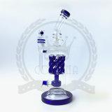 Glasfertigkeit-Aschenbecher-Recycler-Rosa-hohes purpurrotes Ölplattform KLEKS Glas-rauchende Wasser-Rohre für Tabak-Rohr