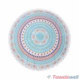Напечатанное полотенце пляжа Mandala Microfiber круглое с Tassels